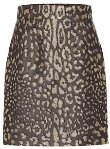 Dolce & Gabbana Leopard-print brocade miniskirt