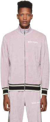 Palm Angels Pink Chenille Track Jacket