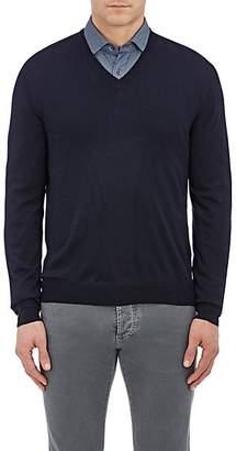 Barneys New York Men's Wool V-Neck Sweater - Navy