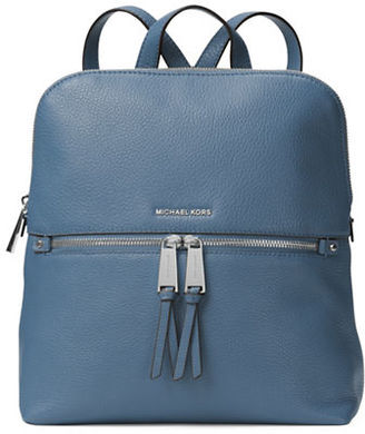 Michael Michael Kors Medium Slim Leather Backpack $258 thestylecure.com