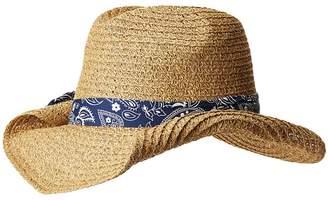 San Diego Hat Company PBC2451 Paper Cowboy w/ Bandana Print Band Caps
