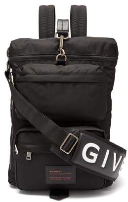 Givenchy Ut3 Leather Trimmed Nylon Backpack - Mens - Black