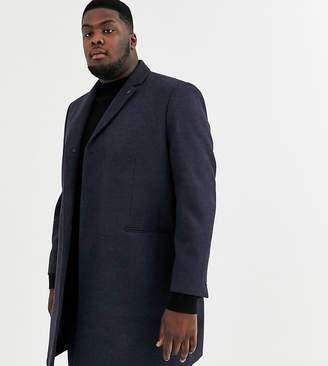 Burton Menswear Big & Tall coat in navy