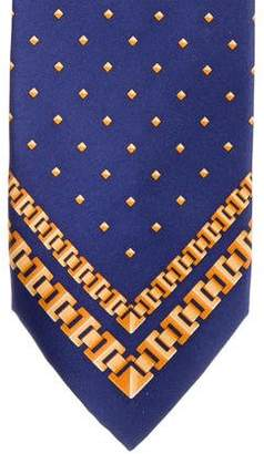 Zilli Ornate Chain-Link Silk Tie