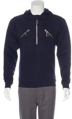 Christopher Kane Zip Accented Hooded Sweatshirt w/ Tags