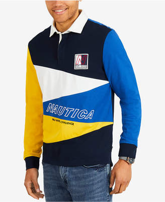 Nautica Men's Colorblocked Long-Sleeve Rugby