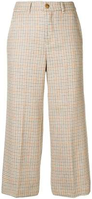Twin-Set cropped houndstooth trousers