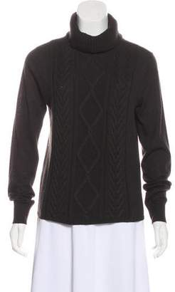 Max Mara 'S Cable Knit Turtleneck Sweater