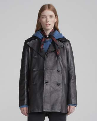 Rag & Bone Nella leather peacoat