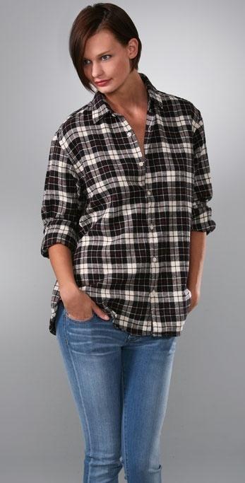 Bop Basics Boyfriend Flannel Shirt