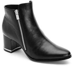 Calvin Klein Fara Leather Booties