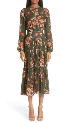 Johanna Ortiz Slit Bodice Tiered Dress