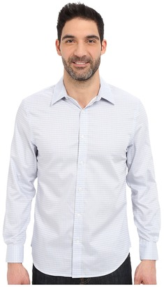 Perry Ellis Long Sleeve Grid Check Non-Iron Shirt $49.99 thestylecure.com