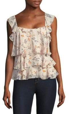 Rebecca Minkoff Alexis Floral Ruffled Top