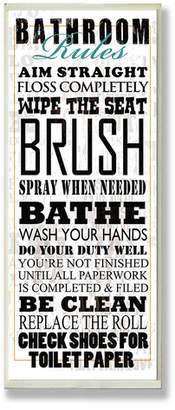 Laundry by Shelli Segal Winston Porter 'Bathroom Rules' Typography Tall Rectangle Wall Plaque