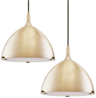 Southern Enterprises Isolde Dome Pendant Light Collection 2 Piece Set