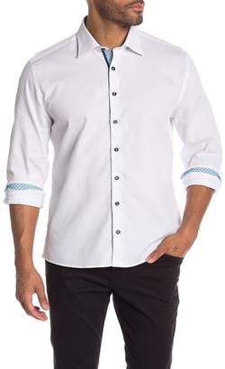 Stone Rose Miami Waffle Long Sleeve Slim Fit Shirt
