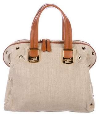 Fendi Leather-Trimmed Chameleon Handle Bag