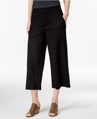 Eileen Fisher Cropped Wide-Leg Pants, Regular & Petite $178 thestylecure.com
