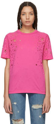Stella McCartney Pink Laser Cut Star T-Shirt