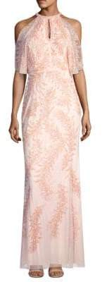 Aidan Mattox Cold Shoulder Gown