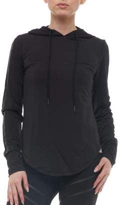 S2 Sportswear Women's Athleisure Pullover Hoodie with Glossy Stripes