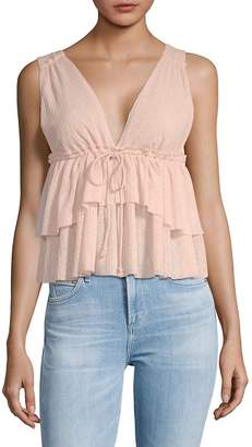 See by Chloe Women's Tiered Babydoll Tank Top