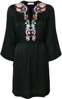 Etro embellished v-neck dress