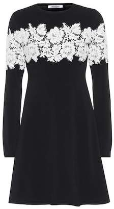 Valentino Lace-trimmed knit dress