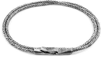 ANCHOR & CREW - Silver Forestay Double Sail Chain Bracelet