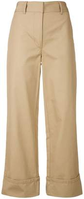 Prada turn-up hem trousers