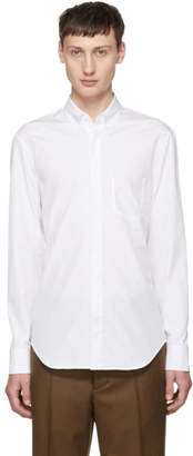 Maison Margiela White Poplin Cut-Out Pocket Shirt
