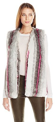 Buffalo David Bitton Women's Furry Hilites Faux Fur Animal Print Vest $15.59 thestylecure.com