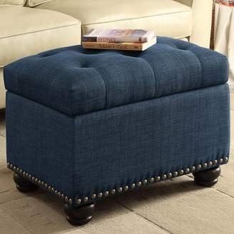 Charlton Home Bernadette Storage Ottoman Upholstery