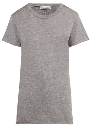 Queene and Belle Cashmere And Silk Jersey T Shirt - Womens - Grey