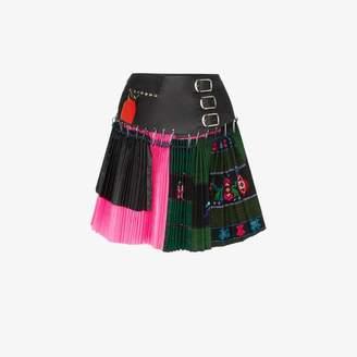b22e4c7e2 Chopova Lowena High-waisted belted pleated mini skirt