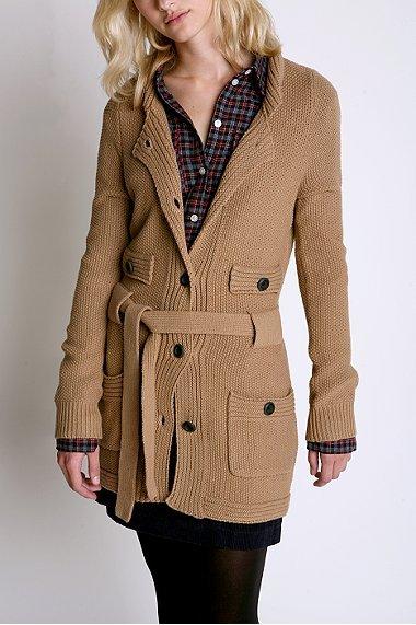 Charlotte Ronson Seed Stitch Sweater Coat
