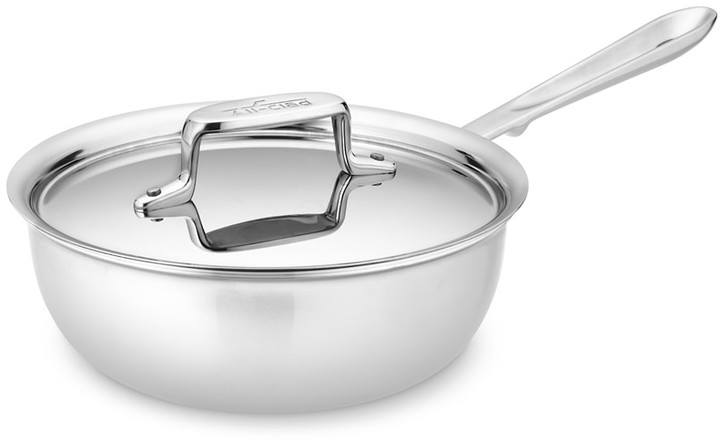 All-Clad d5 Stainless-Steel Saucier, 2-Qt.