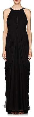 Alberta Ferretti Women's Draped Chiffon Cutout-Back Gown
