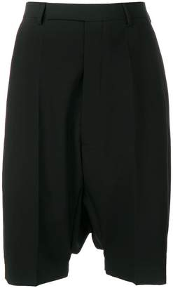 Rick Owens tailored drop-crotch shorts
