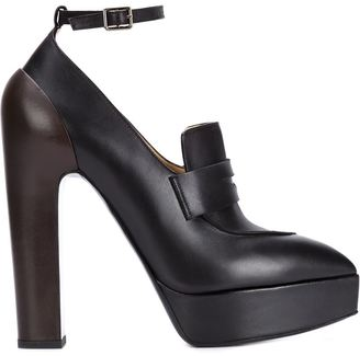 Vera Wang penny loafer pumps $1,325 thestylecure.com