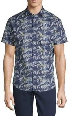 Slate & Stone Floral Short-Sleeve Cotton Button-Down Shirt