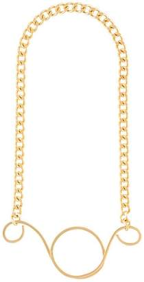 Vionnet pendant chain necklace