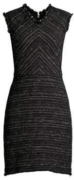 Rebecca Taylor Sleeveless Tweed Sheath Dress