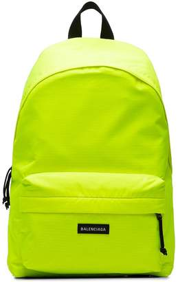 Balenciaga Yellow Neon Explorer Logo Backpack