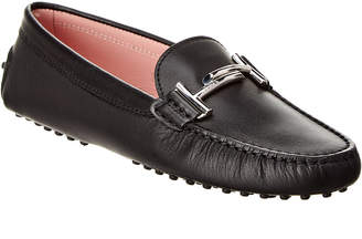 Tod's Double T Gommino Leather Driving Shoe