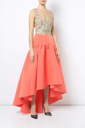 Marchesa Coral High Low