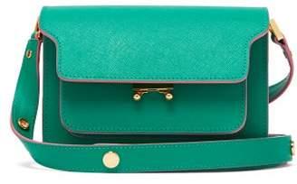 Marni Trunk Mini Saffiano Leather Cross Body Bag - Womens - Green