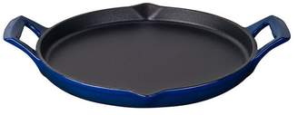 La Cuisine Round 12 Cast Iron Shallow Griddle With 2 Wedge Handles, Enamel