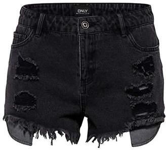 Only High-Waisted Destroy Denim Shorts